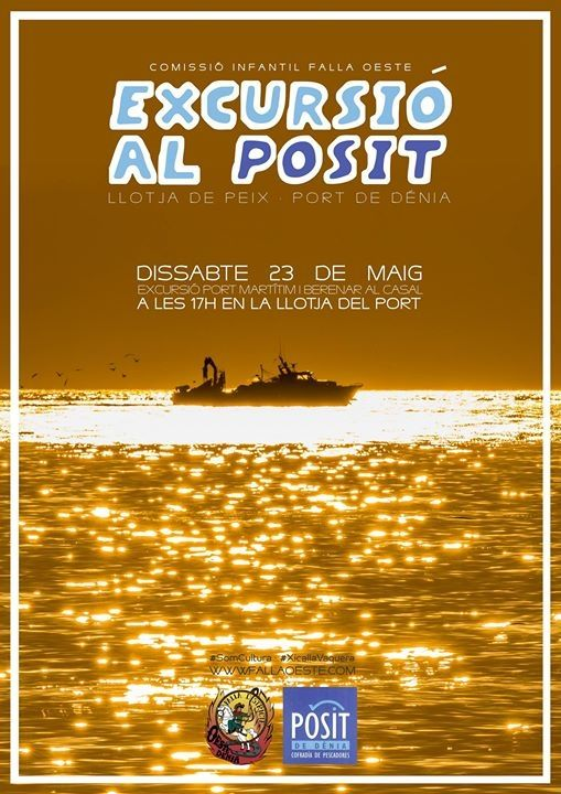 La #xicallavaquera no para i el pròxim dissabte se'n va d'excursió al Port pesquer de #Dénia i al finalitzar, berenar al Casal! #FallaOeste #Port  #SomCultura #Falles #XicallaÍ