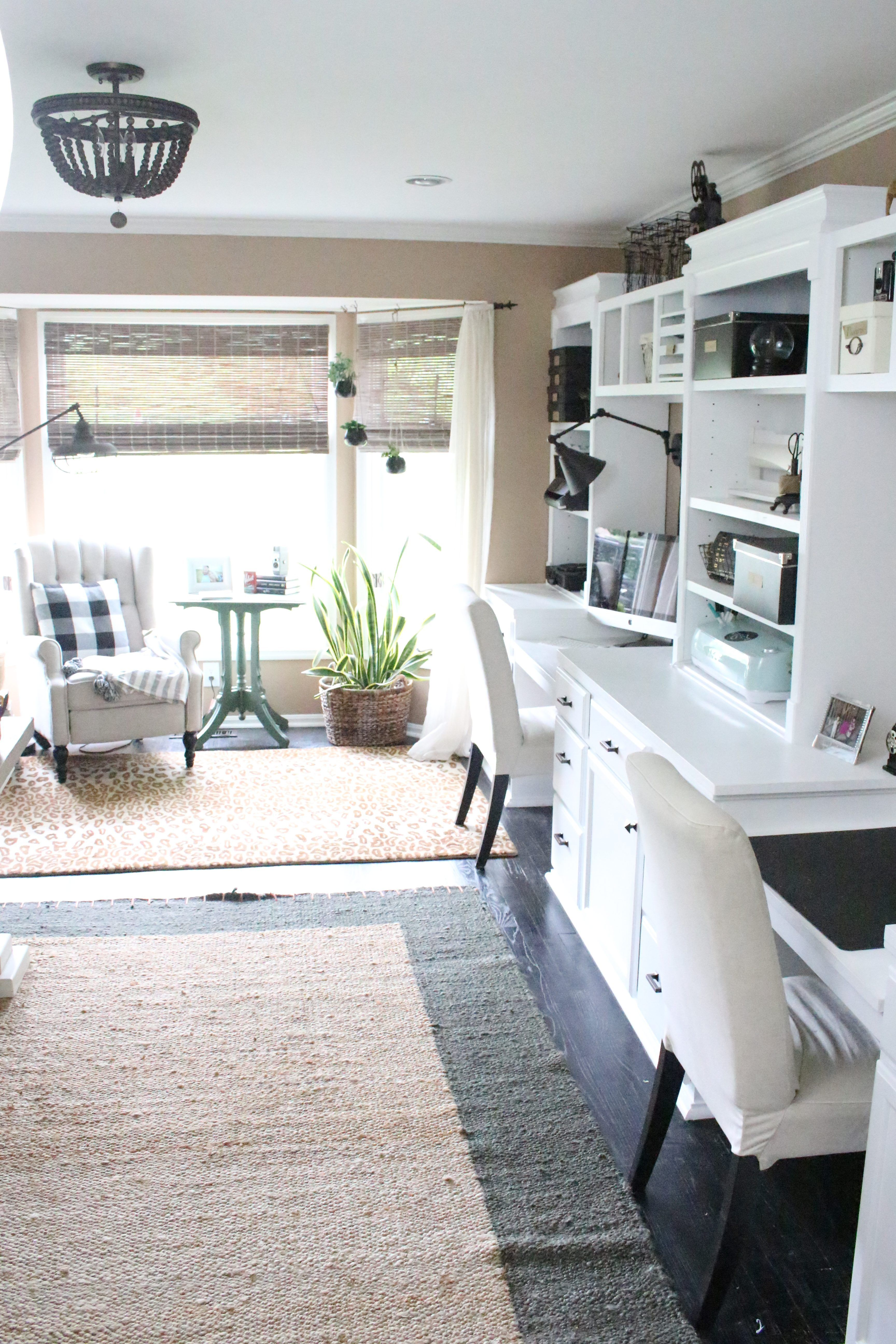Home Office Craft Room Reveal Space Supply Storage Ideas Farmhouse