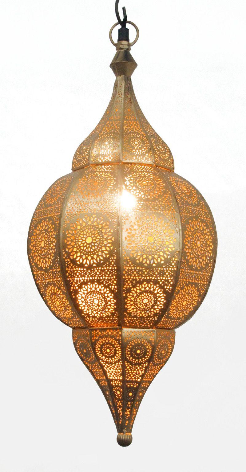Gouden Lamp Van Binnen En Van Buiten Verkrijgbaar In 3 Maten Op