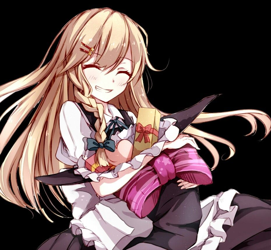 anime girl long hair smile gifts braid