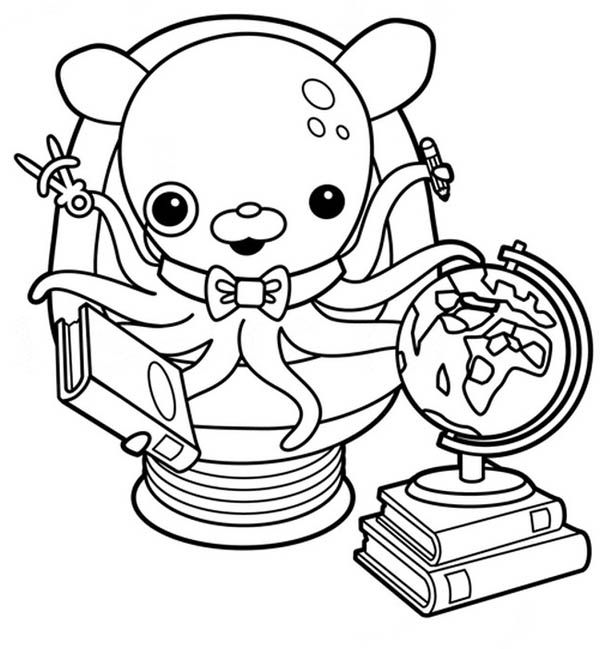 Awesome Professor Inkling Octopus From The Octonauts Coloring Page: Awesome  Professor Inkling Octopus From The Octonauts Coloring Page