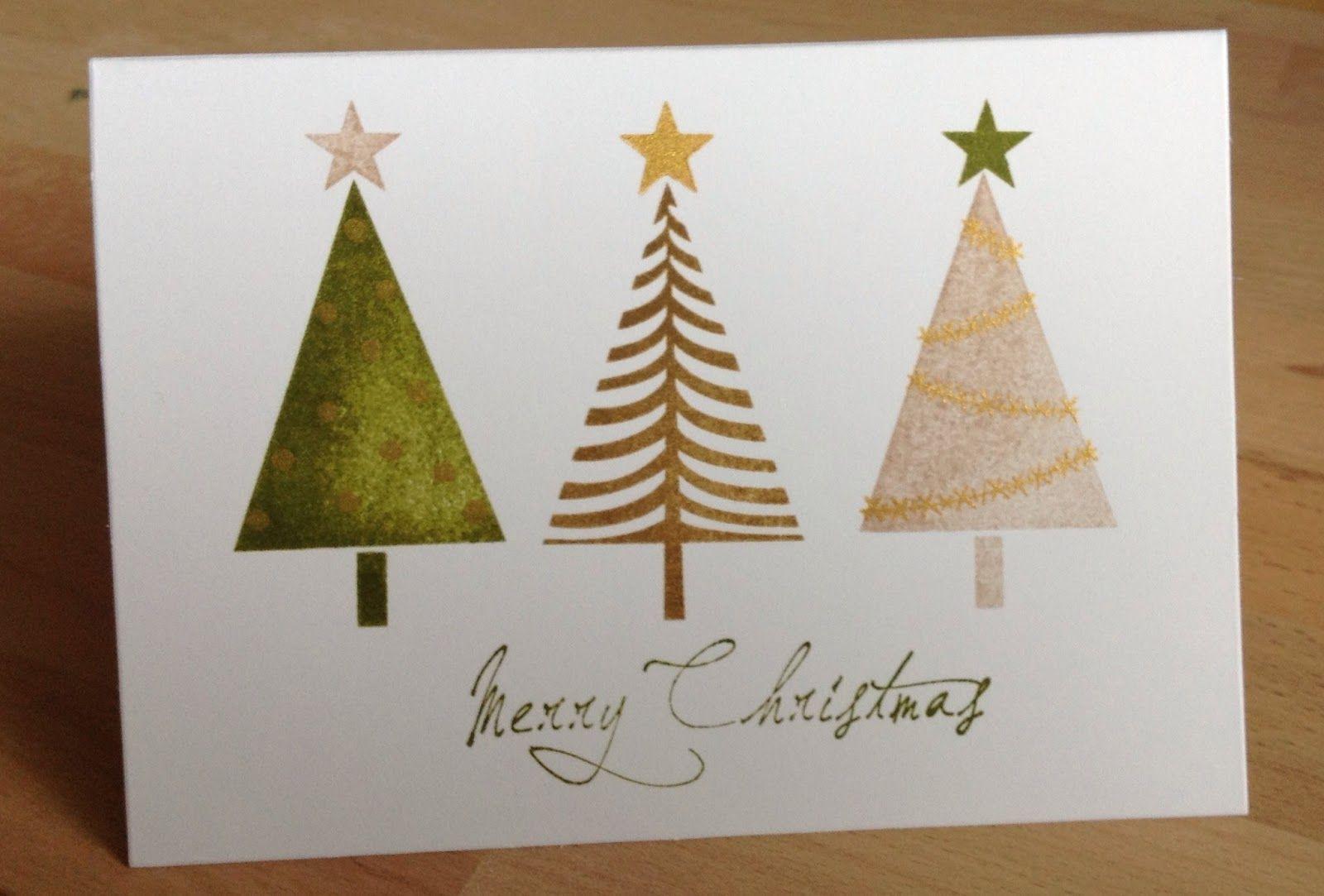 die schlichte karte erste weihnachtskarte mit stampin up festival of trees cards pinterest. Black Bedroom Furniture Sets. Home Design Ideas