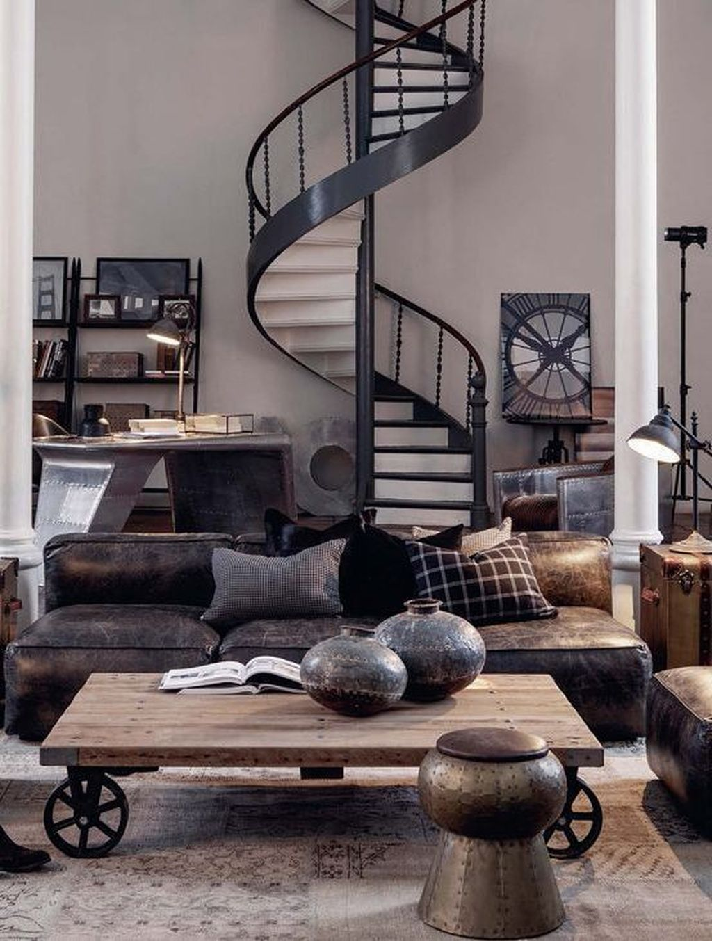 Pin By Sanela Hs On Hus Industrial Style Living Room Rustic Industrial Living Room Industrial Loft Design