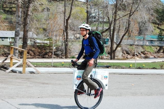 Unicycle rolls through the Boundary on the way to Ottawa