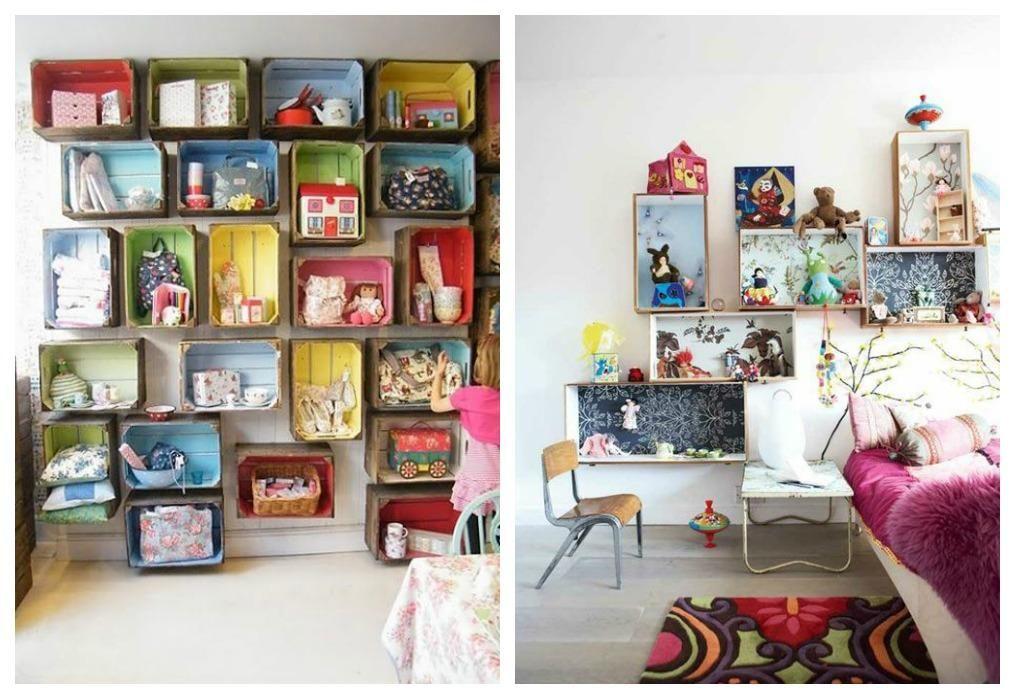 Ideas para decoraciones para recamaras con reciclados - Organizar habitacion infantil ...