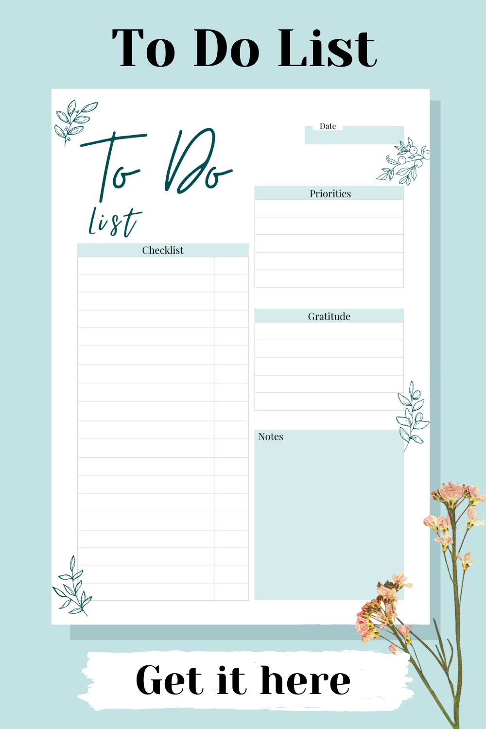Daily To Do List Printable, To do List Notepad, Work Todo List ...