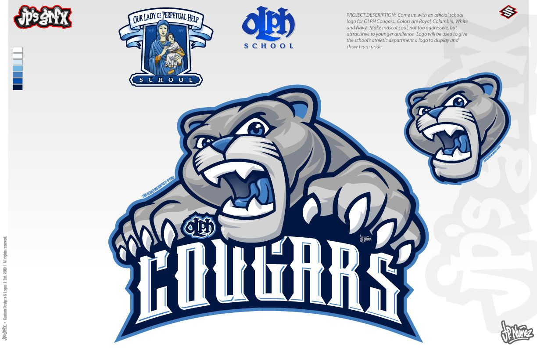 OLPH Cougars Final by jpnunezdesigns Sports logo design