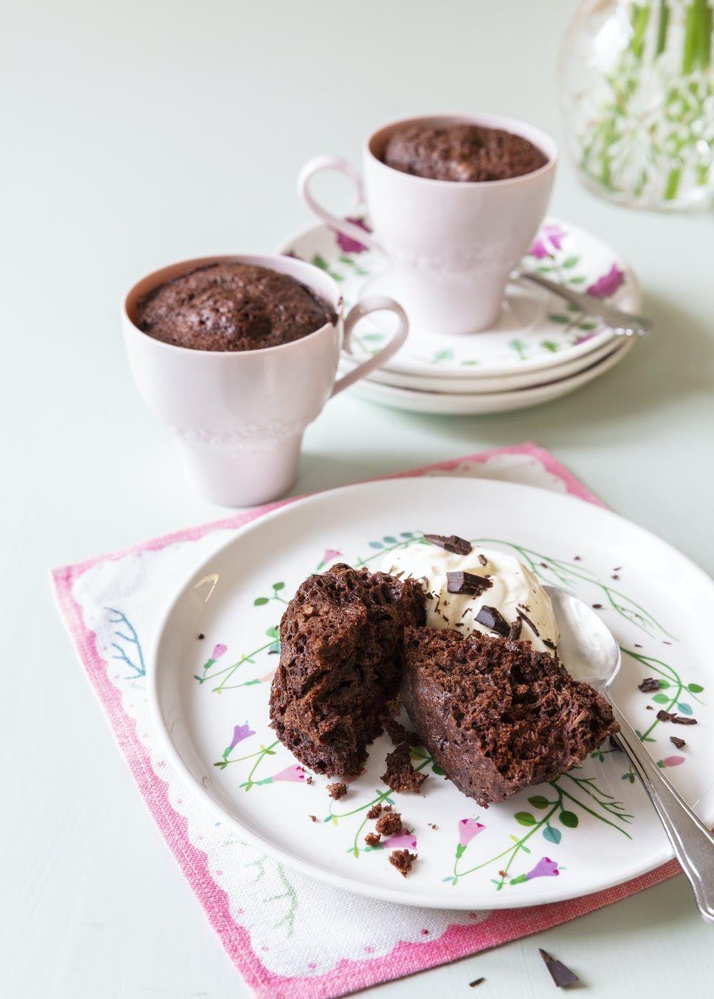 Muffin Keto De Chocolate En Taza Diet Doctor Receta Recetas De Tazas Harina De Coco Tortita Keto