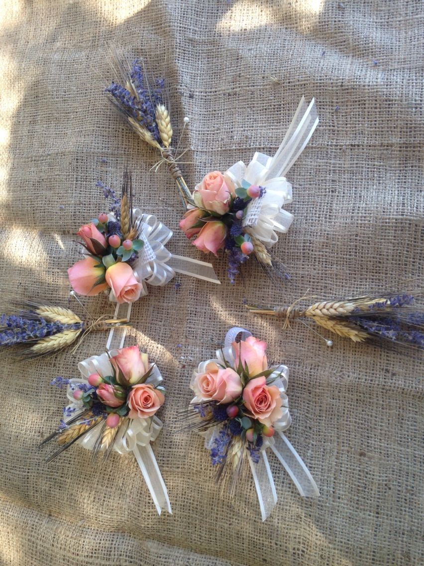 Lavender and wheat MindisFloral.com
