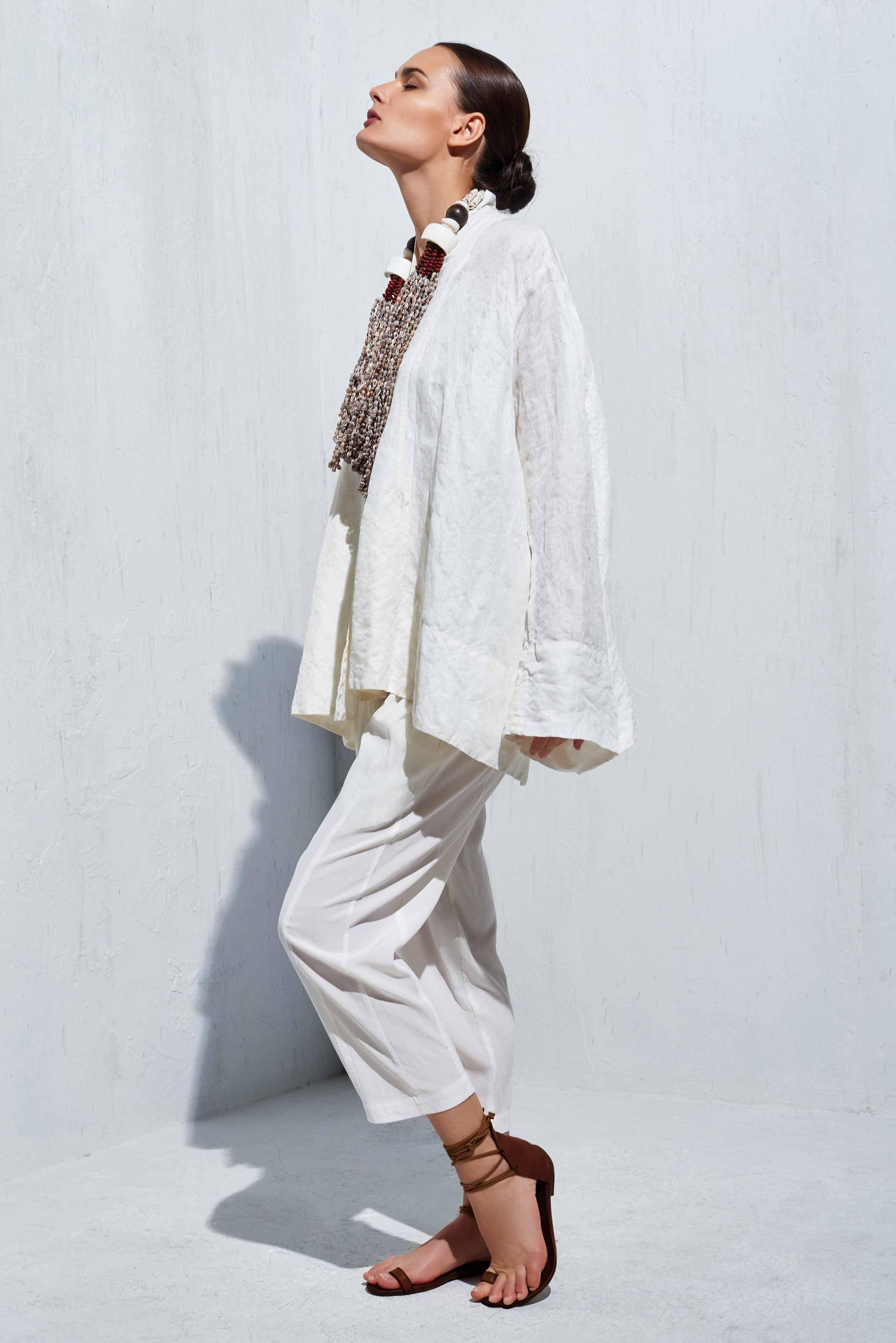 Cropped Kimono Jacket - Urban Zen