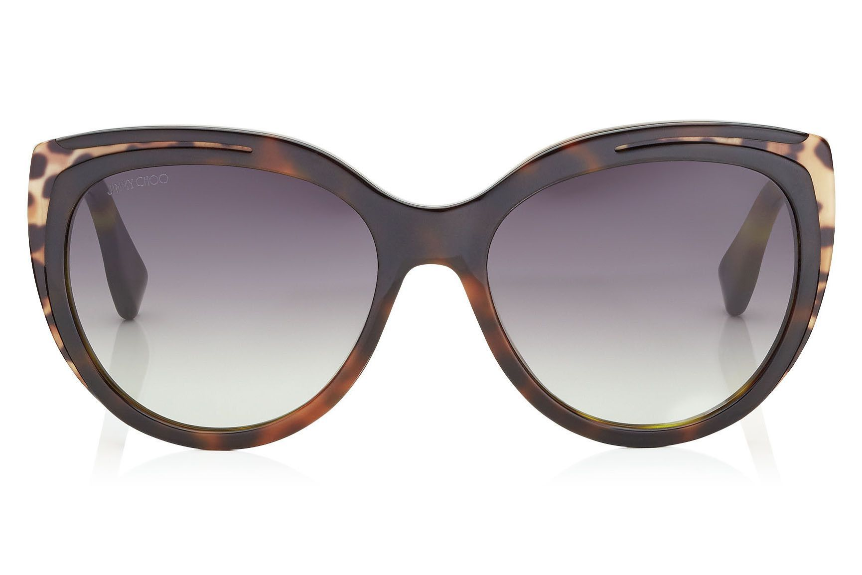 833410030777 Jimmy Choo - Nicky Havana Brown and Animal Print Round Framed Sunglasses   jimmychoosunglasses