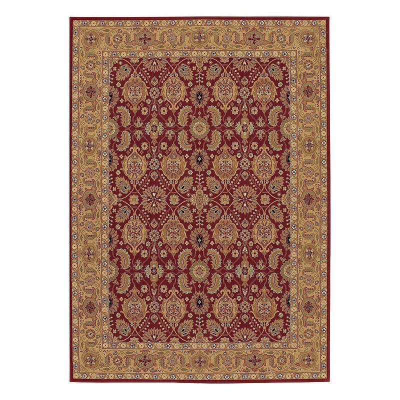 Couristan Royal Kashimar All Over Vase Framed Floral Wool Rug Persian Red Red Wool Area Rug Wool Area Rugs Red Rugs