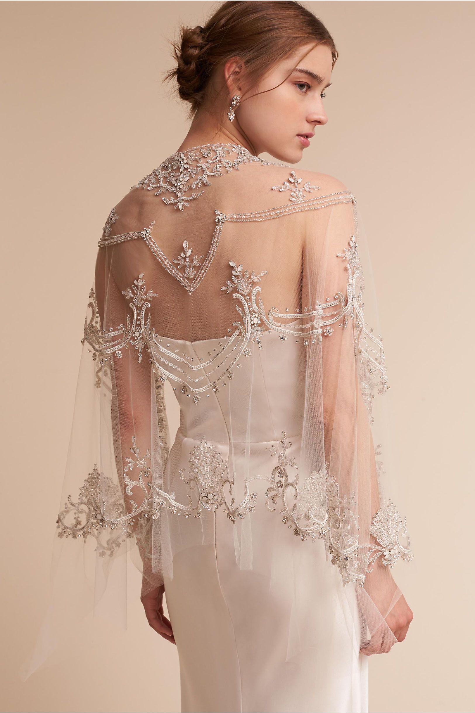 BHLDN Silver Elyria Cape in New | BHLDN | Attractive, Wedding, Prom ...