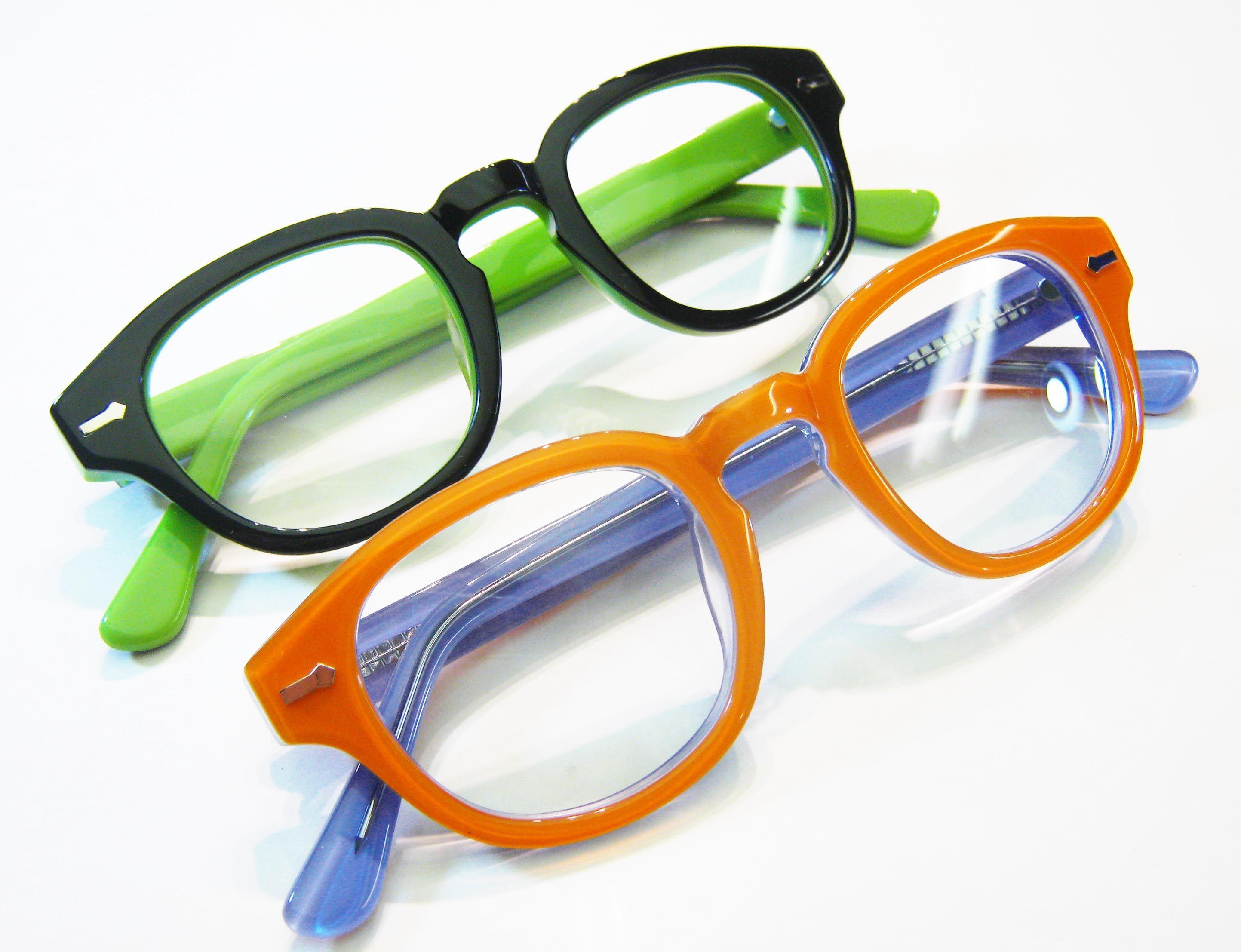 2tone reading glasses in hard to resist colors. Black or Orange ...