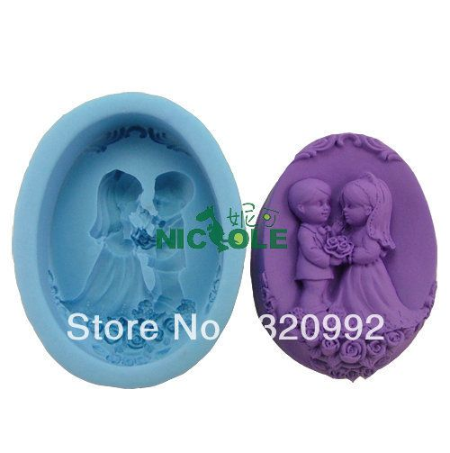 Wedding Silicone Love  Craft Molds DIY Handmade Soap Making Candle Mold New