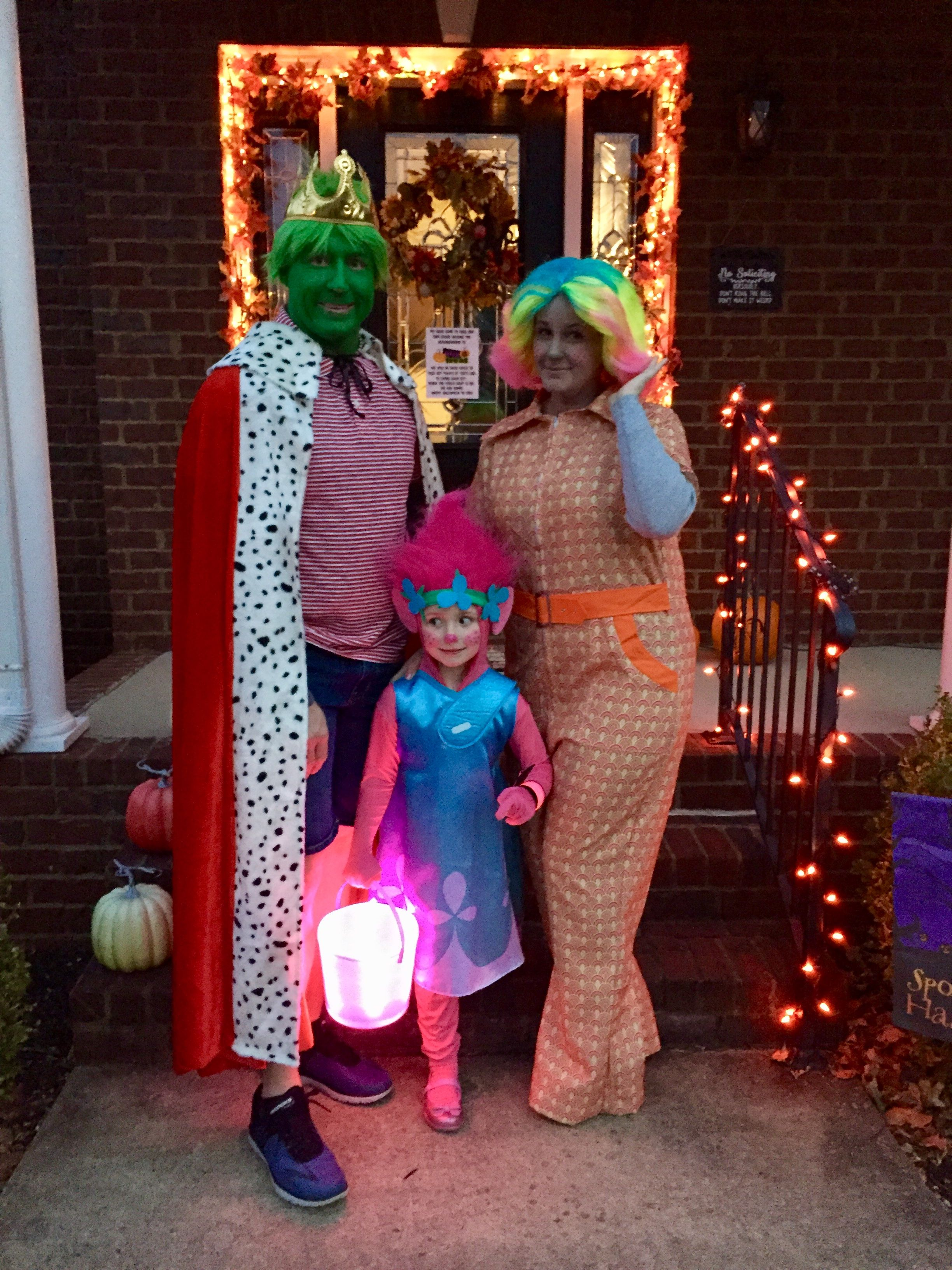 trolls family costumes poppy king gristle lady glittersparkles