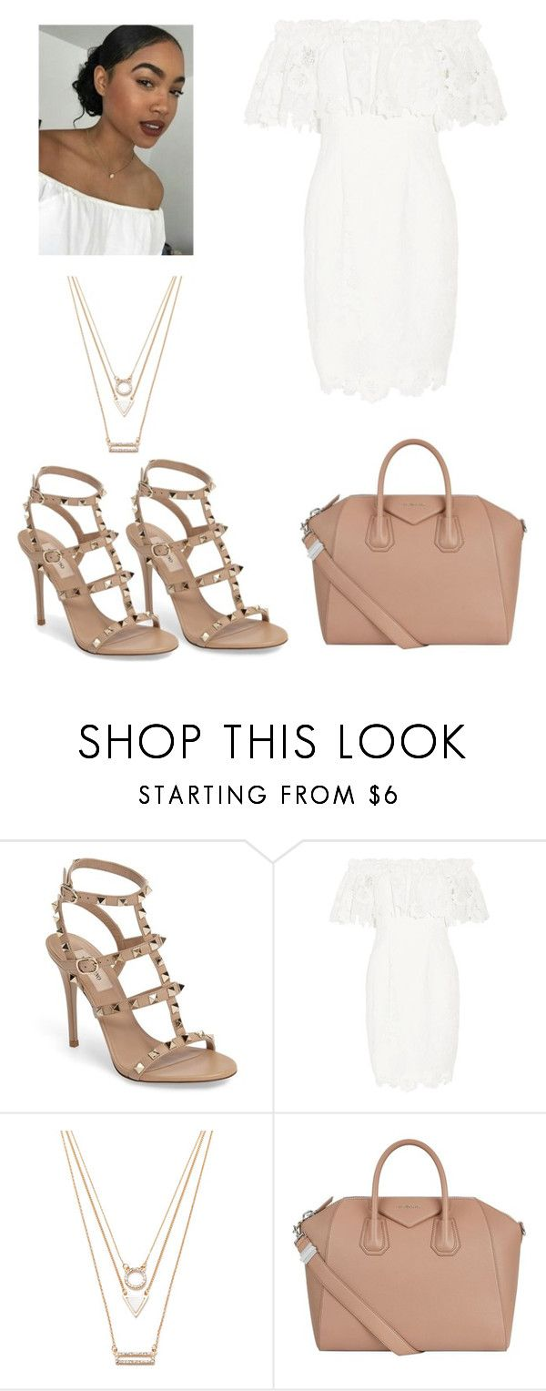 """Untitled #1285"" by jwolley ❤ liked on Polyvore featuring Valentino, Badgley Mischka, Forever 21 and Givenchy"