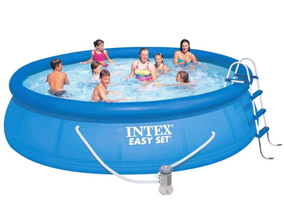#Pools #INTEX #28168 Intex 2816 Aufblasbar Rund 14142l Blau Aufstellpool  Intex Pool Easy Set 457 X 122 Cm. Hier Klicken, Um Weiterzulesen. Iu2026 |  Pinterest