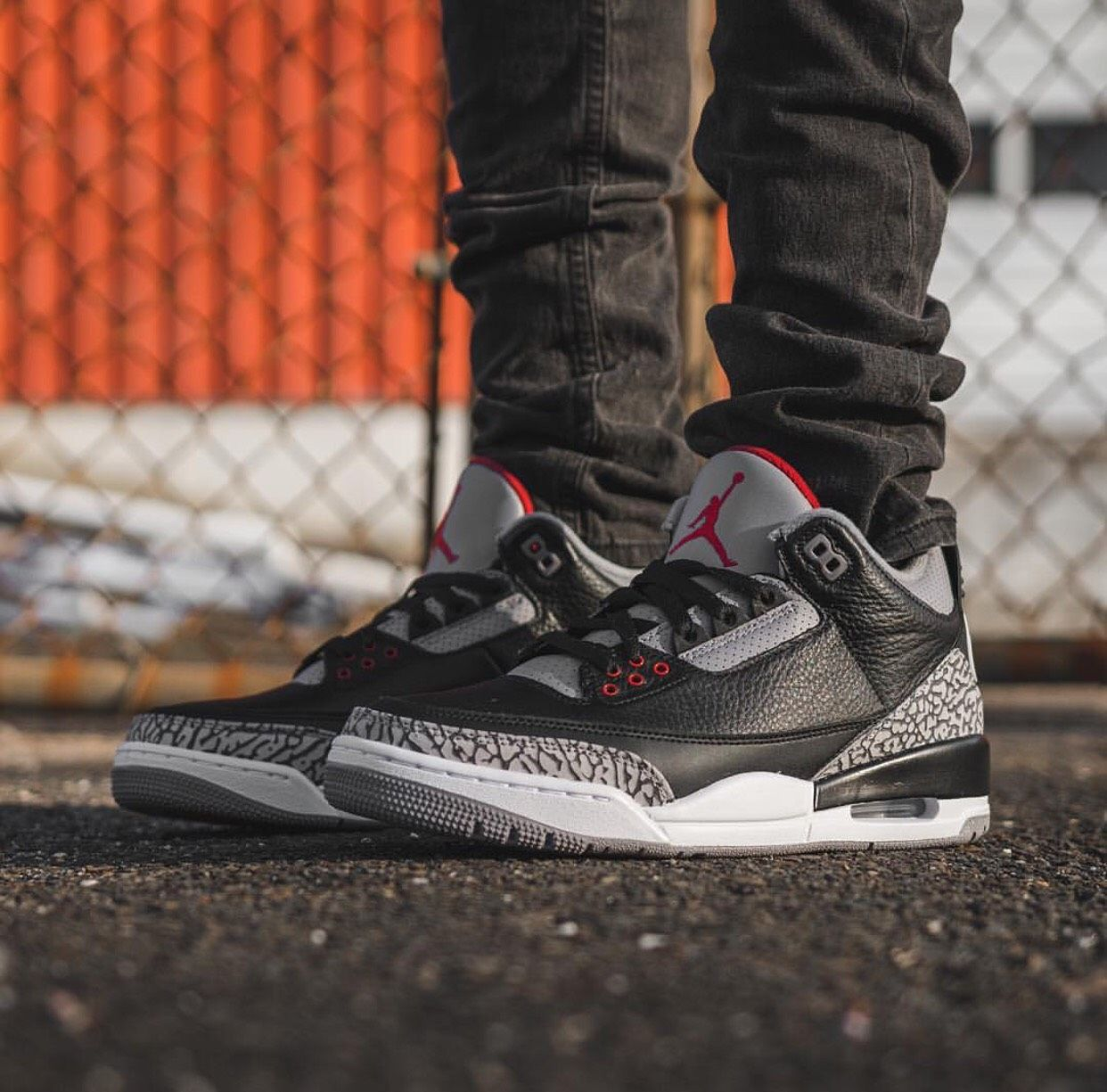 89d3b42421ecaa On-feet look at the Air Jordan 3 Retro OG Black Cement that releases ...