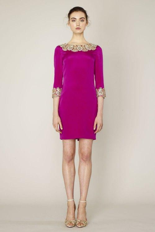 Marchesa 2014,color violeta, con detalles en dorado | Vestidos de ...