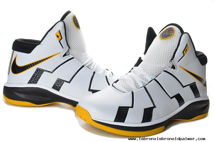 new product 91d0a d26f8 Discount Nike Zoom Lebron 10.8 Shoes-Black White Yellow