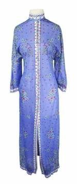 Emilio Pucci | Vintage Emilio Pucci For Formfit Rogers 1960s Periwinkle Floral Robe