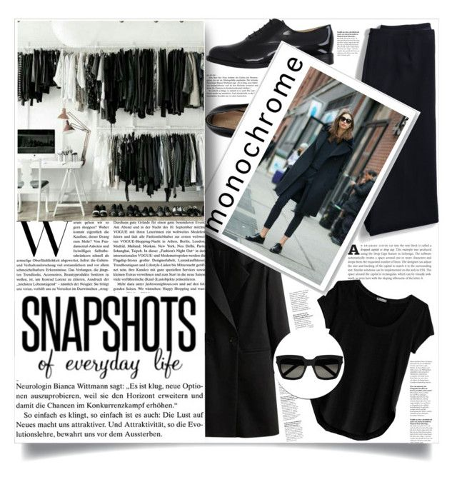 """""""Monochrome Style"""" by natalie1523 on Polyvore featuring Marco Barbabella, Lands' End, Cosabella, Yves Saint Laurent and monochrome"""