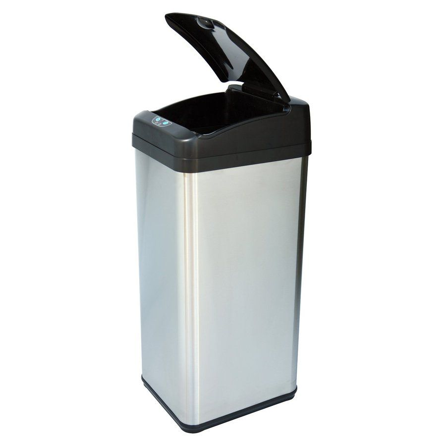 itouchless 13-gallon stainless steel metal touchless trash