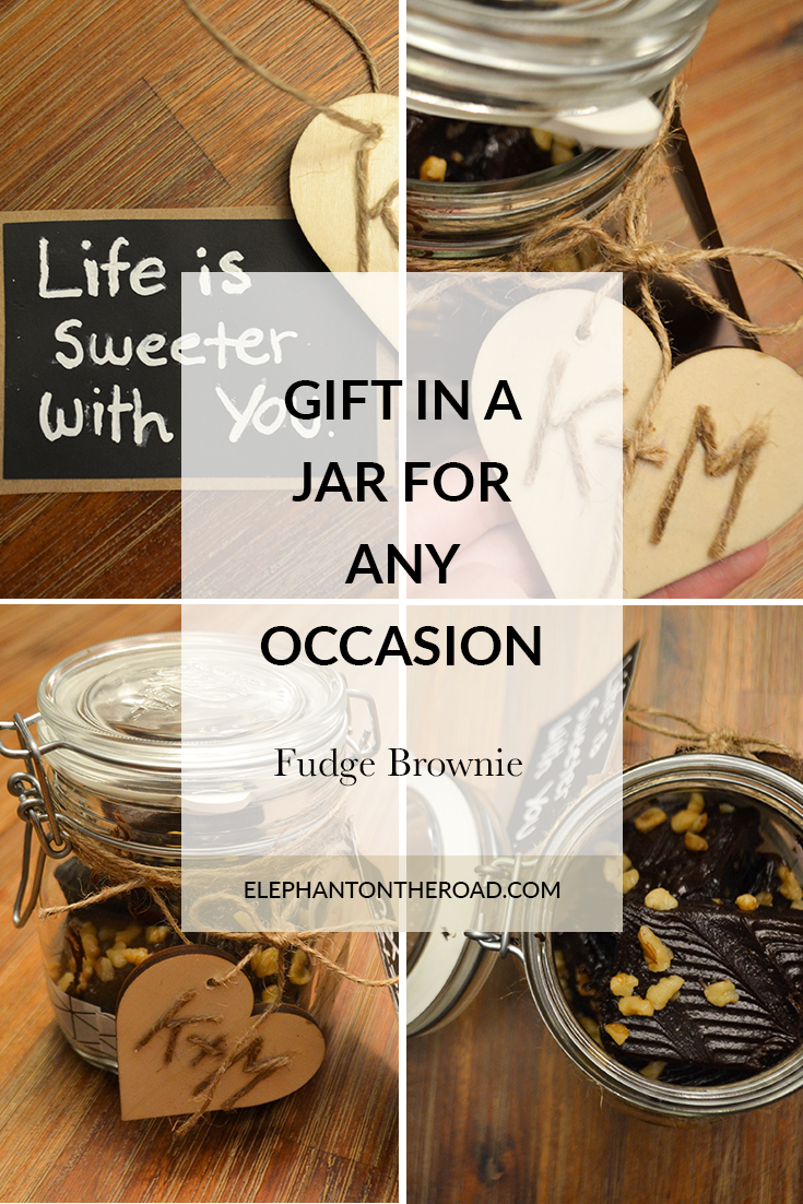 Gift in a jar fudge brownie blogging buddies pinterest jar