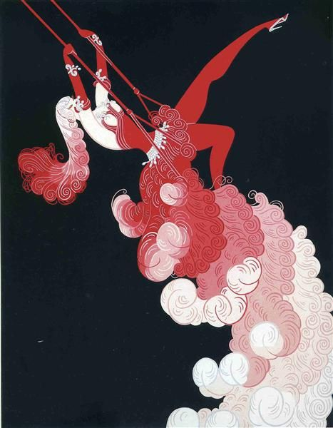 The Trapeze - Erte