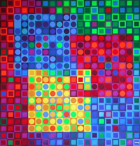 Victor Vasarely Op Art | LazyLady : Op Art / Victor Vasarely - Vásárhelyi Gyozo (1908-1997 ...