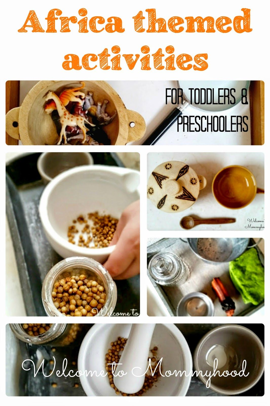 Africa Themed Practical Life And Fine Motor Activities For