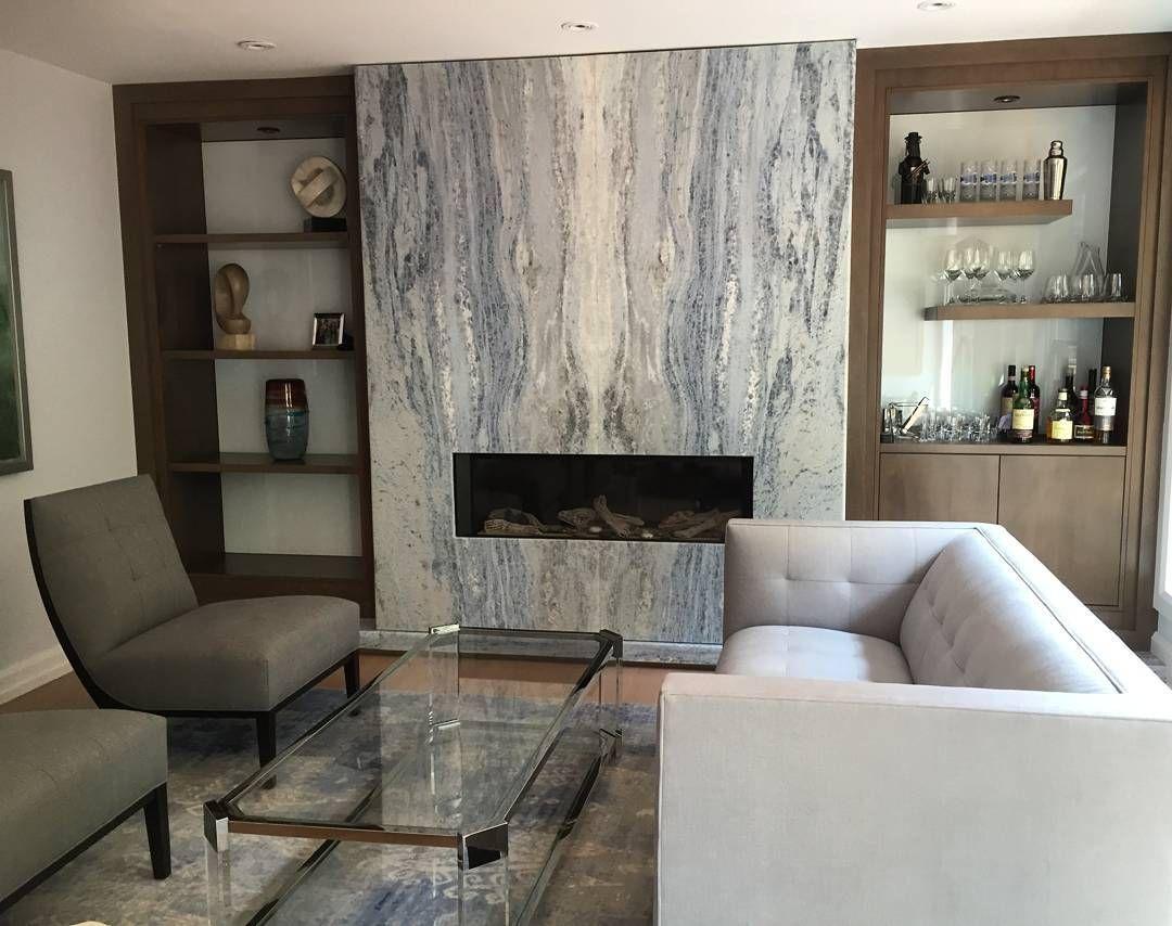 A Gorgeous Fireplace Done By Prestige Granite Design In Irish Spring Quartzite