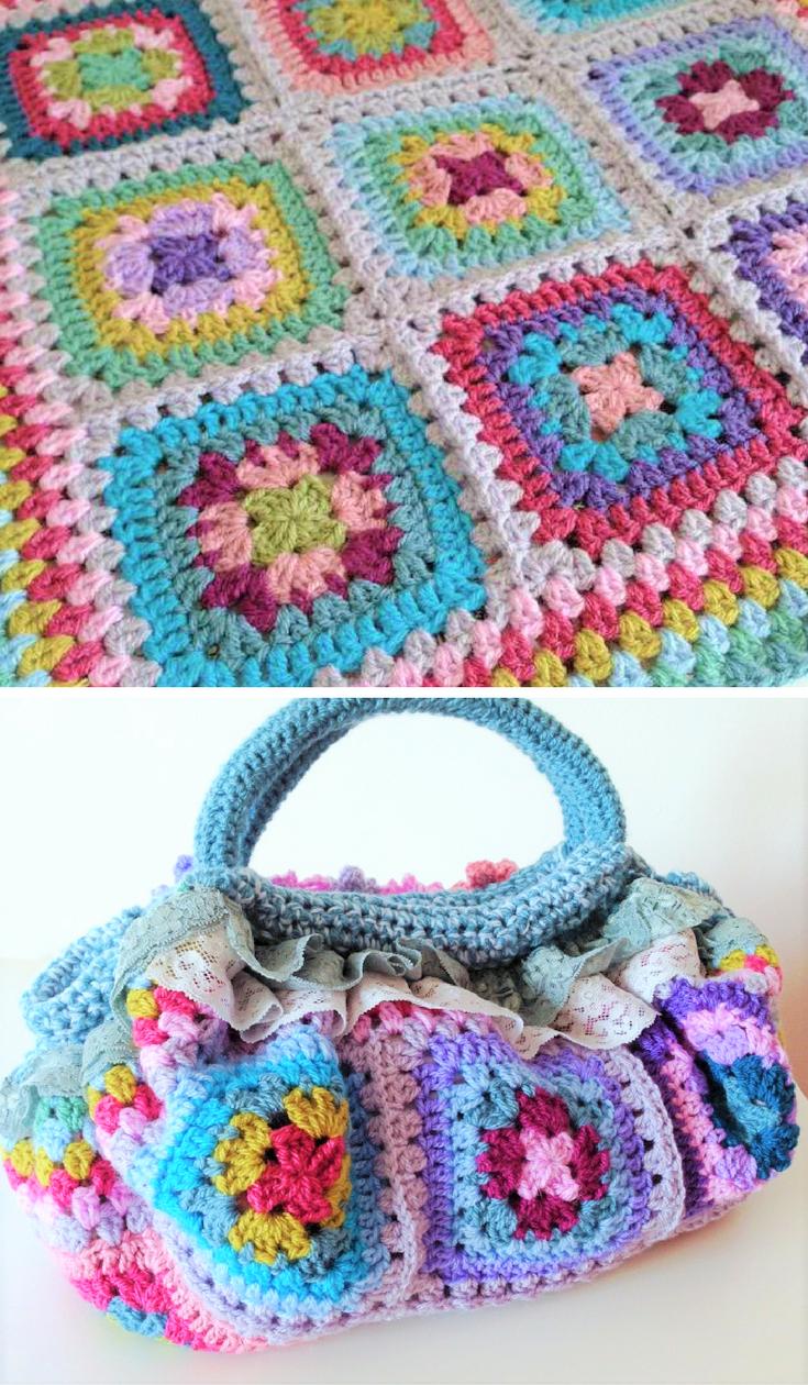Crochet This: Attic24 Harmony square fat bottomed bag!