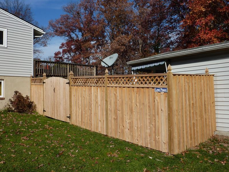 Residential Fence Photos Fences Decks Patios Gallery Long Fence