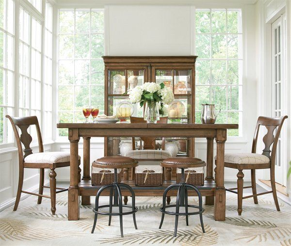 Pennsylvania House 0716 New Lou Working Table Dining Set Cognac