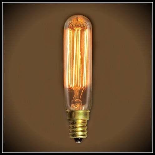 Vintage Nostalgic T6 Tube 25 Watts 3 3 In Length Vintage Light Colors Bulb