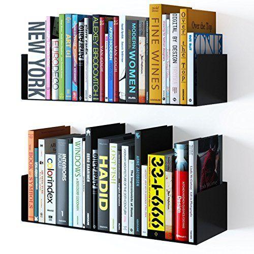 wallniture bali floating wall mount metal u shape shelf book cd dvd rh pinterest com