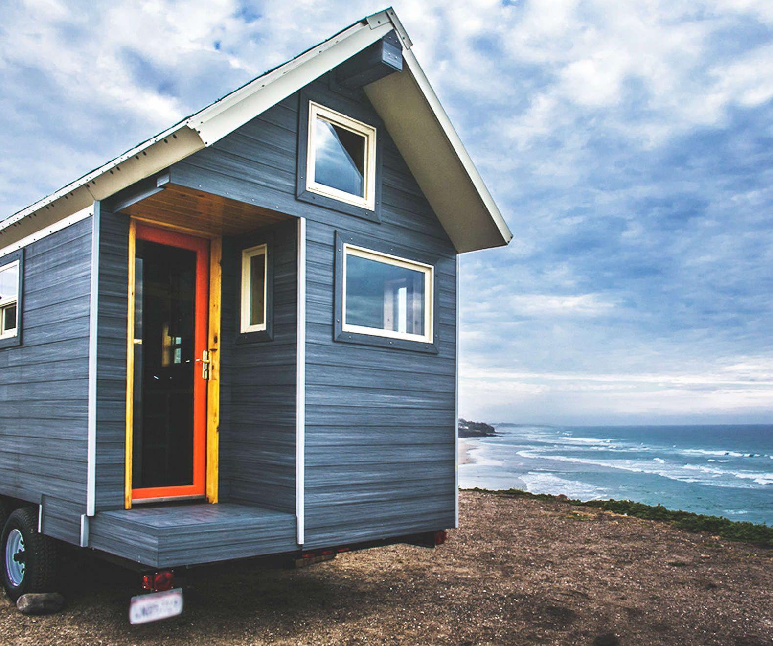 Enjoyable dark grey painted wall cheap tiny house tiny