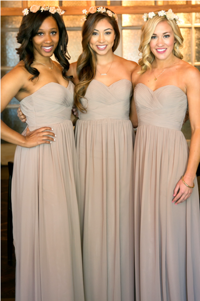 These bridesmaids look absolutely breathtaking! Keep it classy in a Kennedy dress.