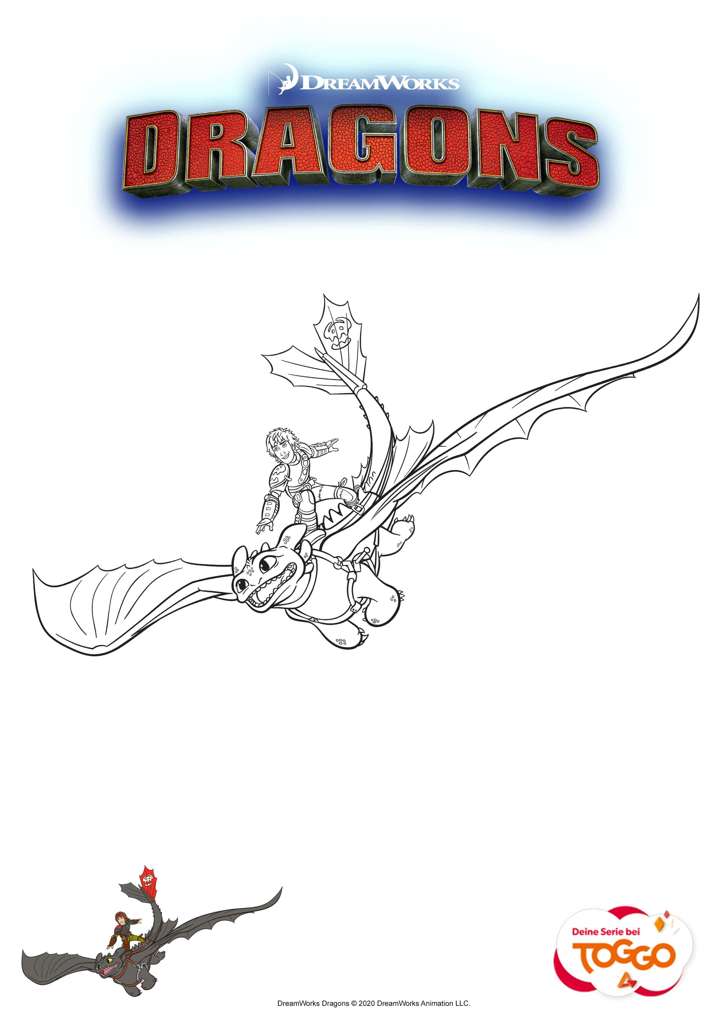 Ausmalbilder eurer Lieblingshelden - MIFUS Family  Dragons