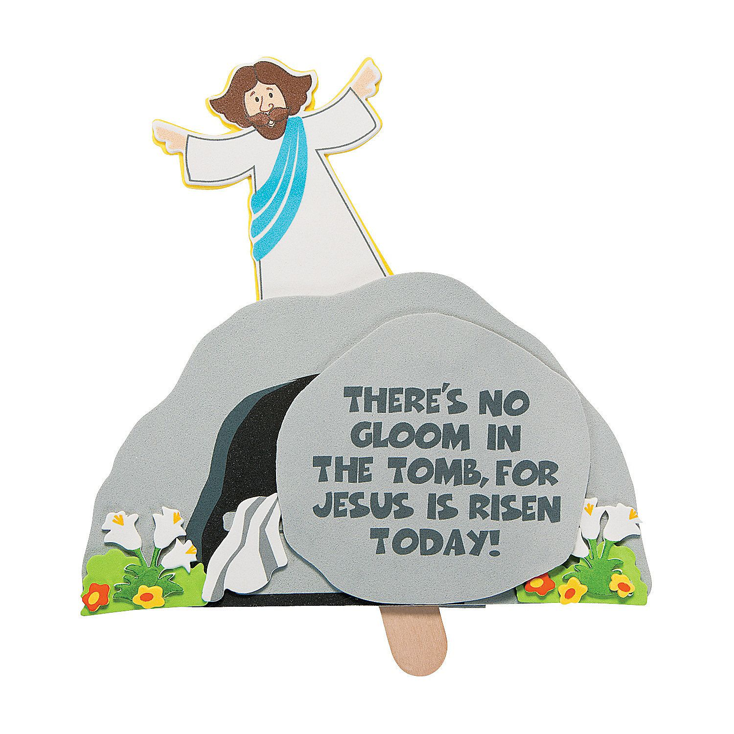 Jesus is risen pop up craft kit oriental trading company for Jesus is alive craft ideas