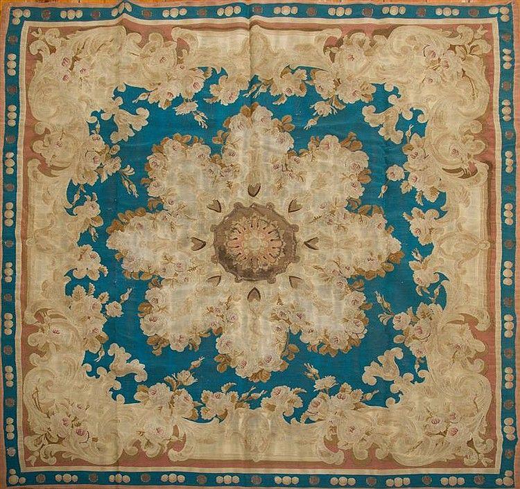 antique french flatweave aubusson empire carpet 5u0027 x 5u0027 rug