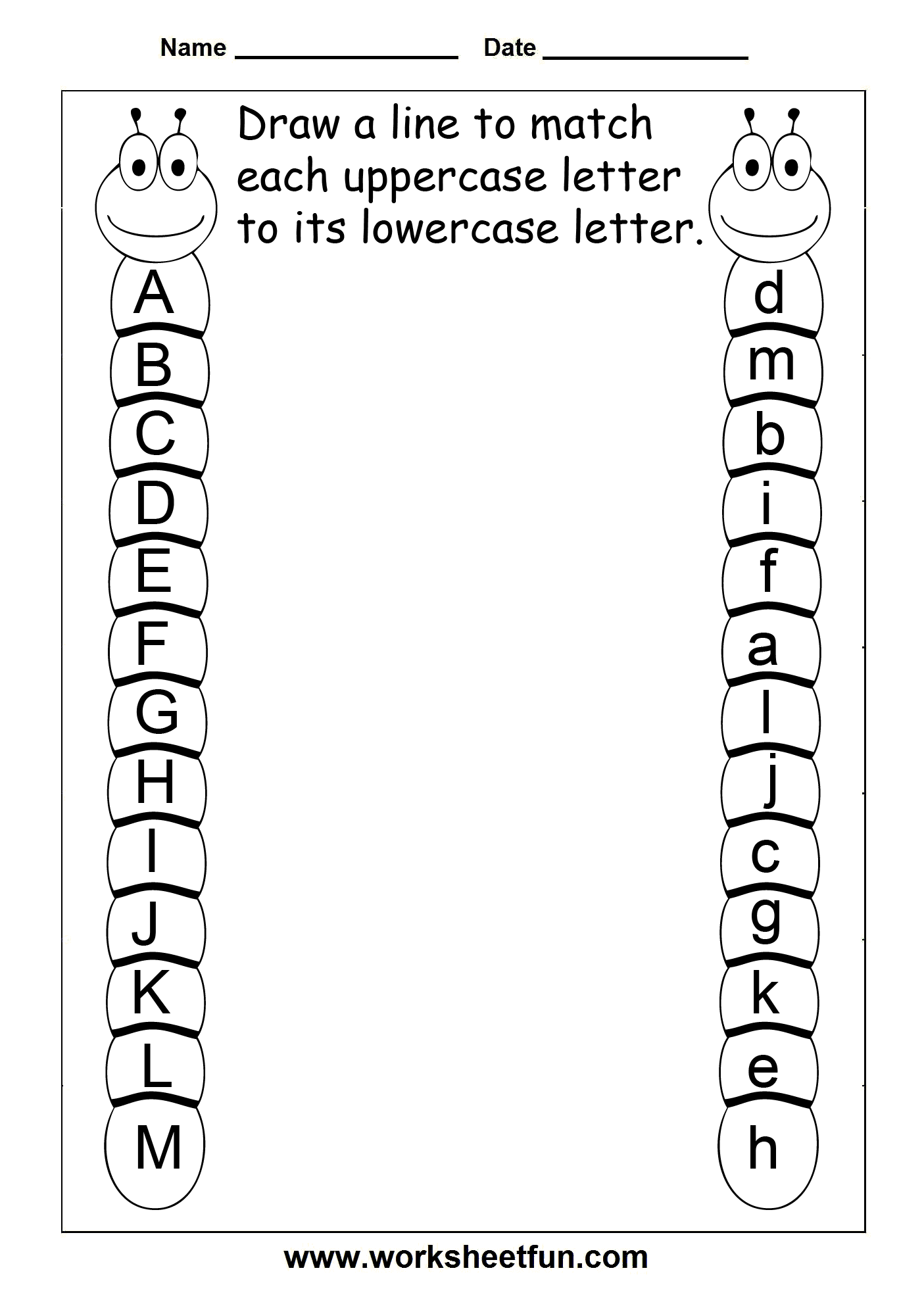 Uppercase Lowercase Letters 11 Worksheets 4 Themes