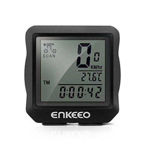Enkeeo Wired Bike Computer Bicycle Speedometer Bike Odometer With
