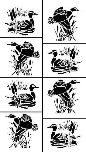 Armour Etch Stencil Rub N Etch Stencil Ducks 5 Inch By 8 Inch Armour Etch Stencil Http Www Glass Etching Patterns Silhouette Stencil Bird Stencil