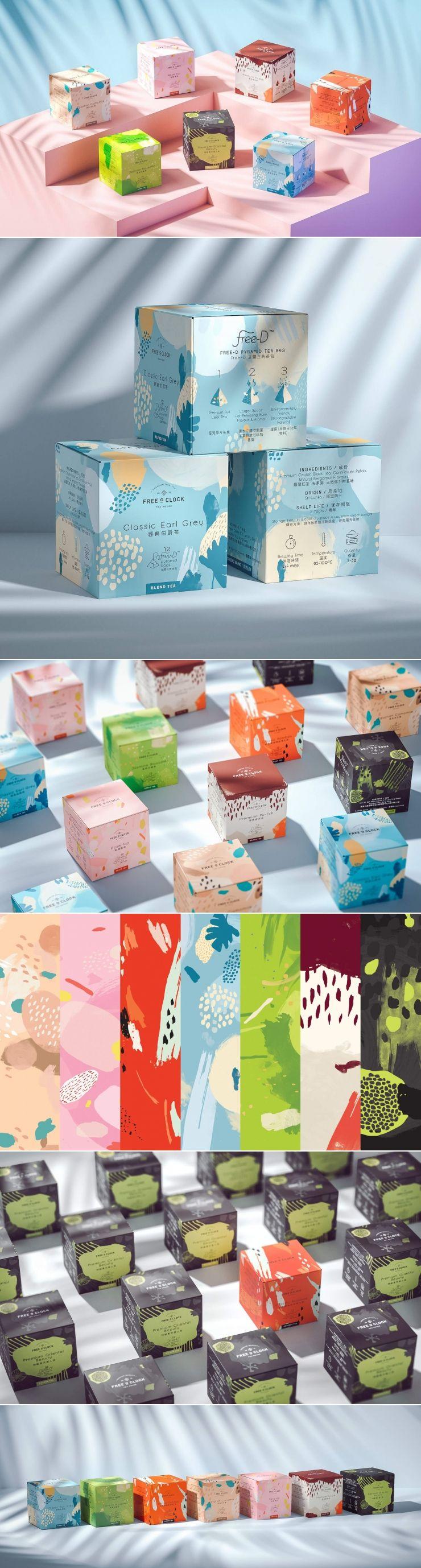 FREEOCLOCK Is a Striking Take on Tea Packaging #teapackaging