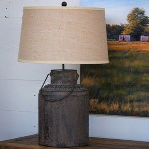 Metal Milk Can Table Lamp Lamp Milk Cans Farmhouse Lamps