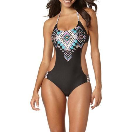 d47e7dda6236 Op Juniors Southwest Macrame Monokini One-Piece Swimsuit   Out of ...