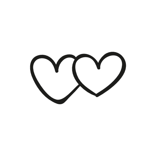Two Heart Icons Instagram Icons Heart Icons Insta Icon